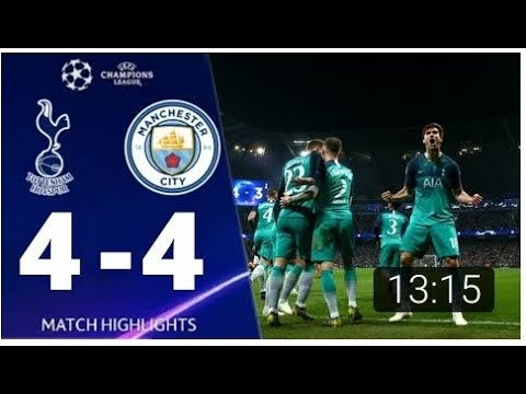 Tottenham vs Man City 4 4 UEFA Champions League 2019 All Goals And Extended Highlights