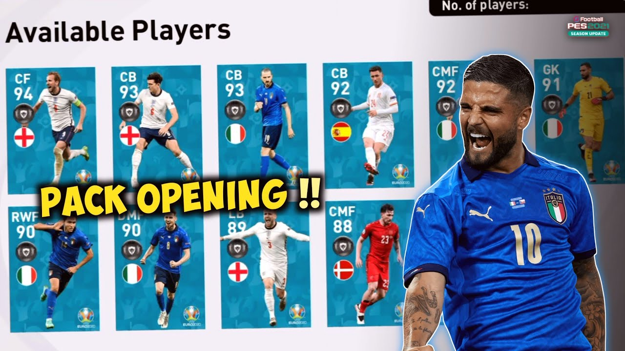 """""""THE BEST POTW UEFA EURO 2020 EVER"""" ?? PACK OPENING !!!    Pes 2021 Mobile"""