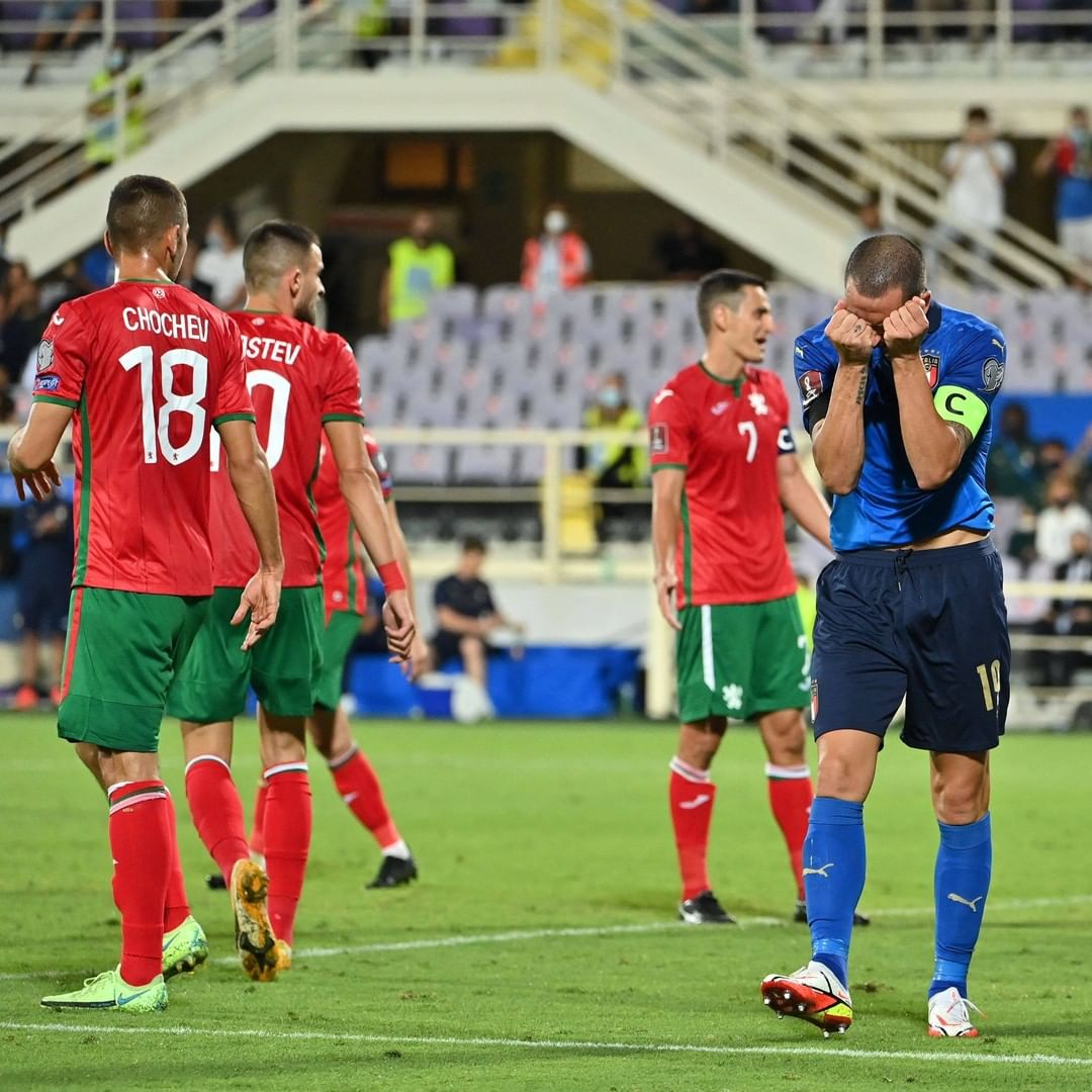 A frustrating night for European champions Italy, drawing 1-1 with Bulgaria in F...
