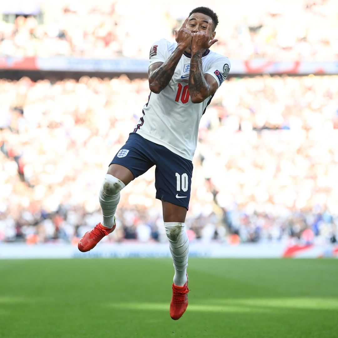 Jesse Lingard scores his first goal for England since November 2018  More where...