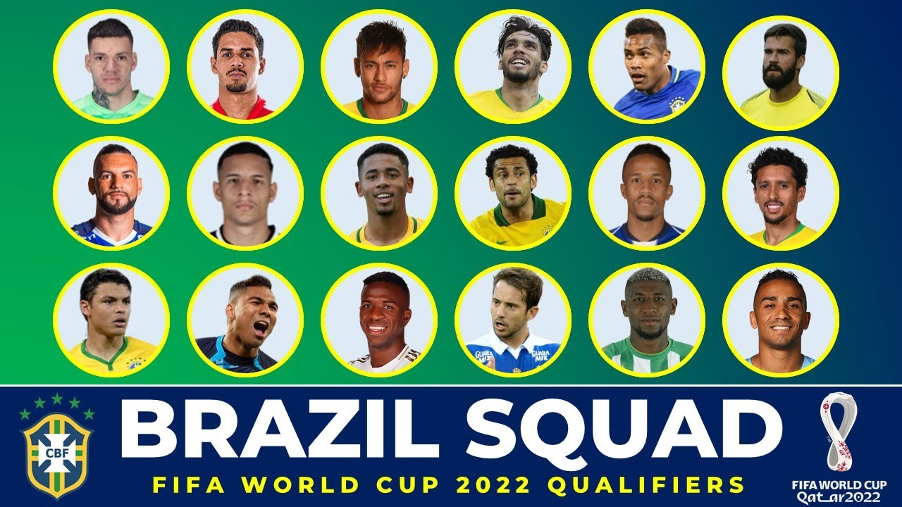 Brazil Squad for FIFA World Cup 2022 Conmebol Qualifiers - October Matches 2021