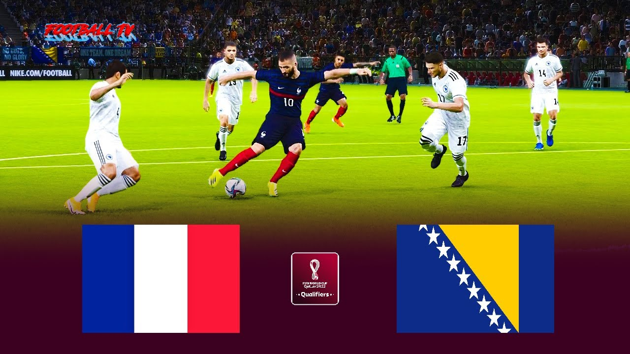 France vs Bosnia   FIFA World Cup 2022 Qualification   Match eFootball PES 2021