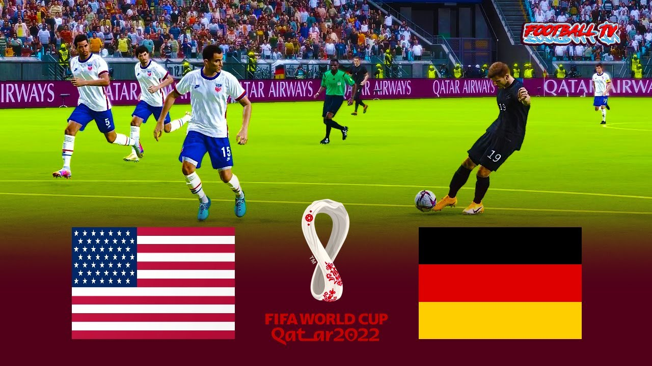 USA vs Germany - FIFA World Cup 2022 - Full Match All Goals - eFootball PES 2021 Gameplay