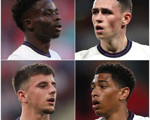 England's  young talents! Rank these stars from 1-4    Bukayo Saka  Phil Foden ...