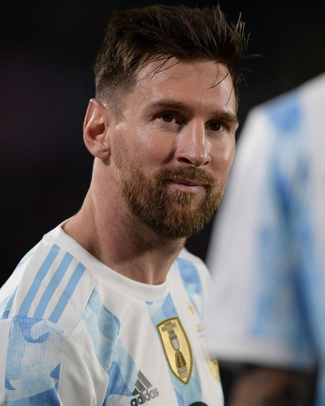 Lionel Messi is the first South American player to score 80 international goals...