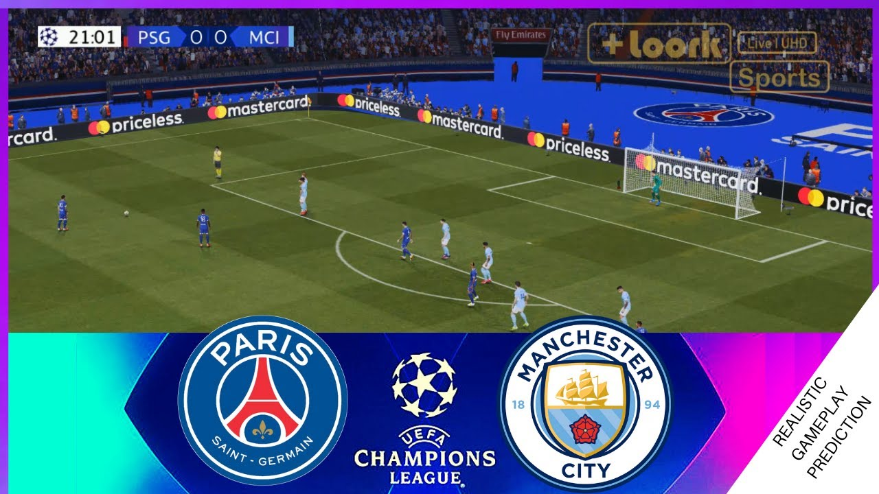 PSG vs MANCHESTER CITY - Full Match UEFA CHAMPIONS LEAGUE, Messi's first goal for psg Sep 28, 2021