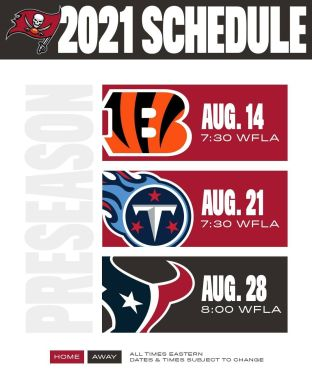 And our 2021 preseason schedule ...