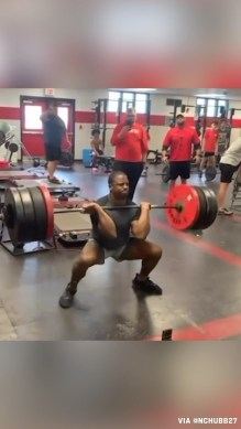 Chubb with the 420-pound power clean  (via  h/t ...
