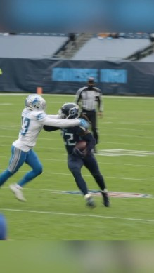 Imagine seeing this  stiff arm from this spot. ...