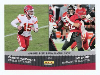 Check out 2020 NFL Panini Instant #141 Tom Brady Patrick Mahomes Buccaneers Chie...