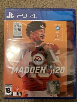 MADDEN NFL 20 For PS4 / PS5 - EA Sports - Brand New - Sealed - P. Mahomes    #ma...