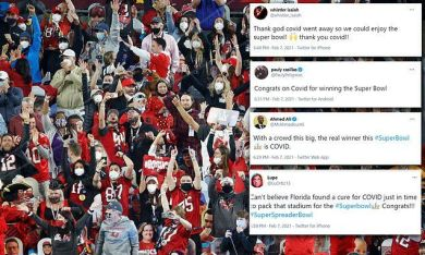 Super Spreader Bowl: Critics blast maskless fans and lack of social distancing a...