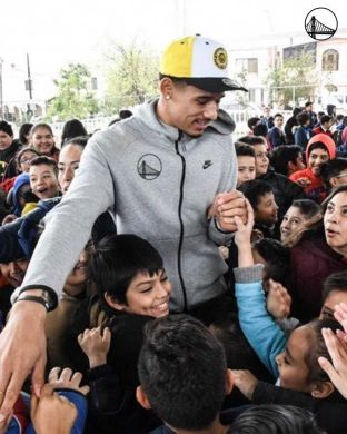 Juan Toscano-Anderson has been named a finalist for the NBA's inaugural Kareem A...