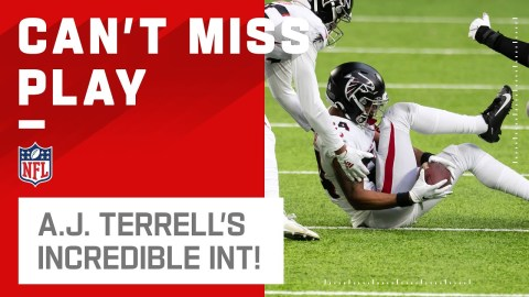 A.J. Terrell's Insane Between-the-Legs INT!