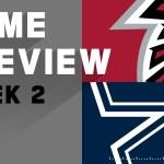 Atlanta Falcons vs. Dallas Cowboys Week 2 NFL Game Preview