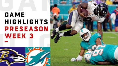 Ravens vs. Dolphins Highlights | NFL 2018 Preseason Week 3