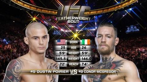 UFC 257 Free Fight: Conor McGregor vs Dustin Poirier 1