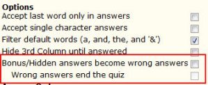 """Wrong Answer"" Quizzes"