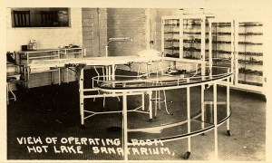 A view of the old operating room, now library where a woman's screams can be heard