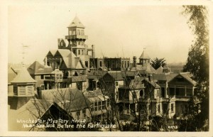 Winchester House before the towers came down in an earthquake
