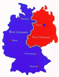 map East West Germany