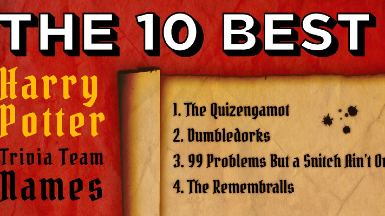 The 10 Best Harry Potter Trivia Team Names | Sporcle Blog