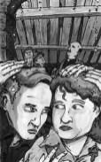 Illustration for Grey Ranks by Jason Morningstar, Ink wash, 2007
