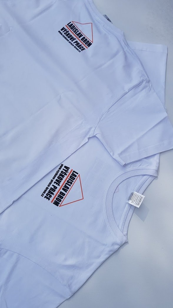 Pímý potisk textilu - Výškové práce