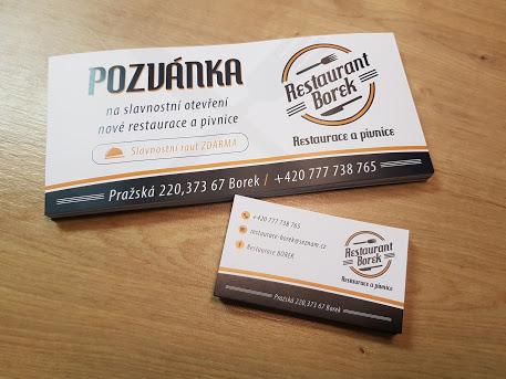 Pozvánky restaurant Borek
