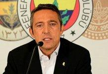 """Süper Lig'in 20. haftasında DG Sivasspor ile deplasmanda 1-1 berabere kalan Fenerbahçe'de Başkan Ali Koç, """"Takımdan ayrılacaklar da var gelecekler de olacak. İsimleri var ama zamanı geldiğinde söylenir"""" dedi."""