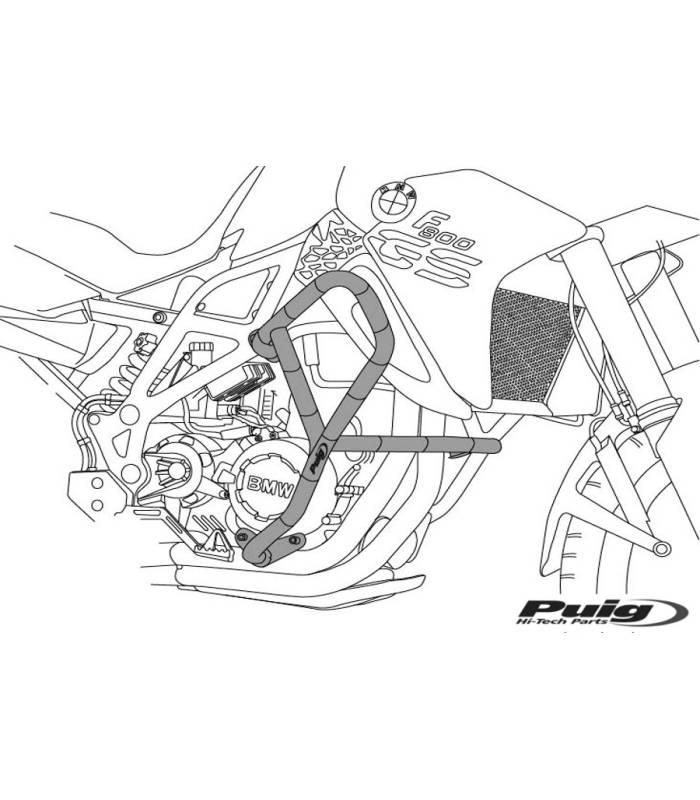 Protection moteur Suzuki DL650 V-STROM 2017- Puig 5884N
