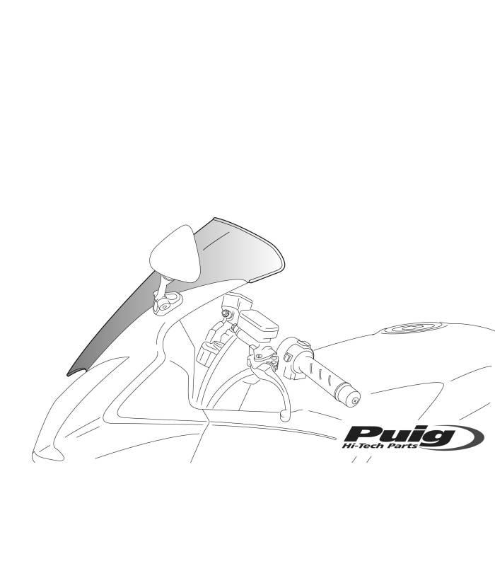 Bulle pour moto KAWASAKI ZX12R 02-06 / Puig Standard