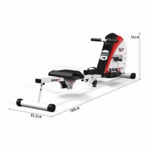 Dimensions du rameur d'intérieur Body Tunner de We R Sports