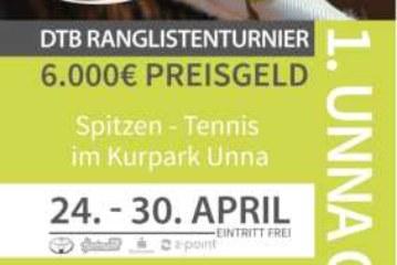 1. UNNA OPEN: TC Grün-Weiß Unna präsentiert hochrangig besetztes Ranglistenturnier vom 24. bis 30. April