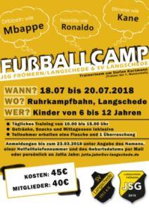 Fußballcamp beim SV Langschede