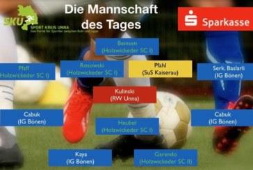 Fußball- Ober-, Landes- und Bezirksliga: Mannschaft des Tages