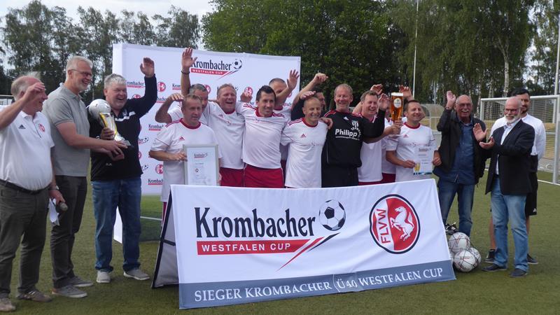 TSG Herdecke Ü40 Krombacher WestfalenCp-Sieger – Vorrunden-Aus für SSV Mühlhausen und SuS Kaiserau