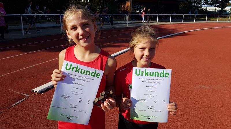 Andreas Schmitmann und Hannah Kalle setzen TVU-Akzente beim Michaelis-Sportfest in Werl