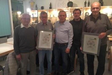 Zwei neue Ehrenmitglieder der Altherrenfußballer des SuS Kaiserau