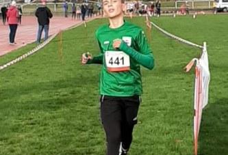 Jagoda Wolanin und FinlayProhtmann bei den Crossmeisterschaften in Hamm am Start
