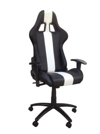 Black And White Adjustable Racing Seat Office Chair With ...