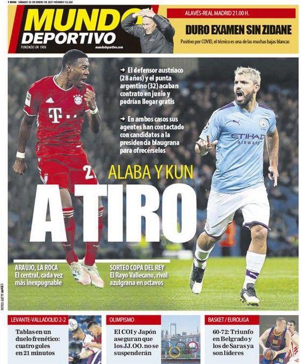 Το πρωτοσέλιδο της Mundo Deportivo για Αγκουέρο - Αλάμπα