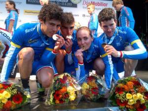 Gli azzurri del Team Relay vincitori lo scorso anno di titolo europeo e mondiale (foto Centenaro)