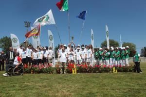 Il podio del Trofeo Pinocchio (Foto Cameli)