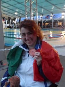 Arjola Trimi, vincitrice di quattro medaglie ai Mondiali nuoto paralimpico
