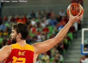 Marc Gasol impegnato contro al Serbia a Eurobasket 2013