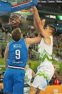 Eurobasket 2013: Melli in azione contro la Slovenia