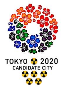 Olimpiadi 2020: il simbolo di Tokyo ritoccato da chi ricorda che probabilmente il paese non sarà bonificato neanche tra 50 anni