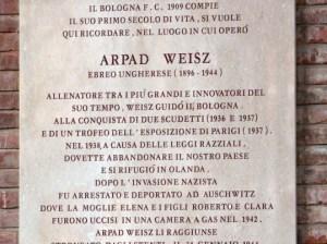 Coppa della Memoria in ricordo di Árpád Weisz
