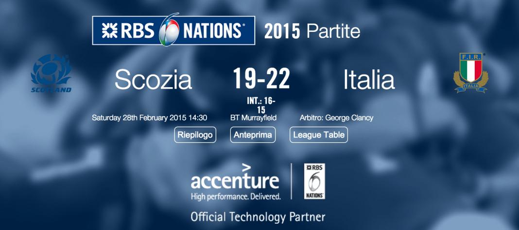 Scozia Italia 6 Nazioni 2015
